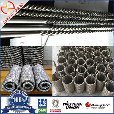 ASTM B338 Gr1 Welded Titanium Threaded Pipe For Heat Exchanger