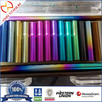 GR12 Titanium Colored Tube With Good Quality