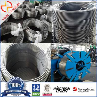 High Quality ATSM B338 G2 Titanium Welded Tubes In Coil For Cheimal Industry