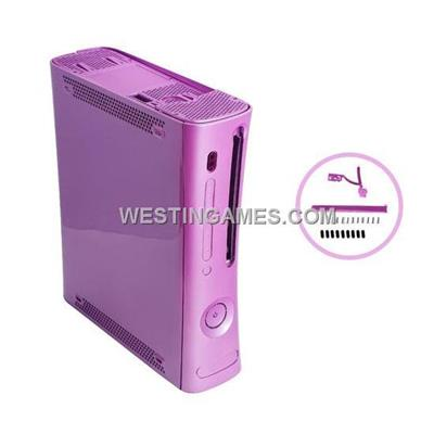 Full Console Housing Shell Case With HDMI Port Purple For Xbox360