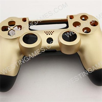 Replacement Top And Bottom Housing Shell Case For Playstation 4 PS4 Controller - Matt Gold