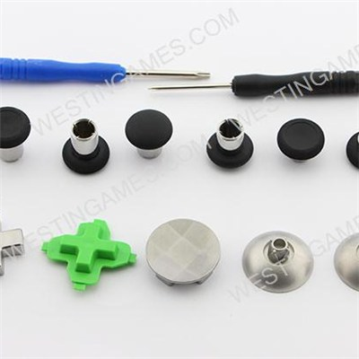 11Pcs Metal Swap Thumbsticks Grips Stick And D-Pad Button Set For XBOX ONE Controller