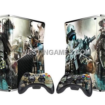 Crystal Epoxy Skin Sticker Colourful For Xbox 360 Slim Console W/ 2 Controller Skin - 246 Themes