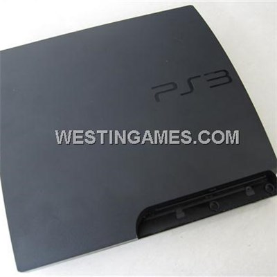 Complete Housing Shell Case Replacement For Playstation 3 PS3 Slim - Black (A Quality)
