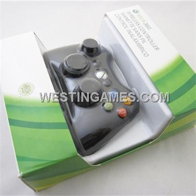 2.4Ghz Wireless Controller Jaypad Black For New Xbox360 Slim