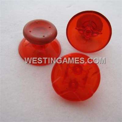 Xbox 360 Controller D-PAD Analog Joystick Thumbstick Cap 3 Set - Transparent Red