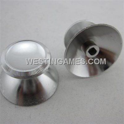 Replacement Aluminum Alloy Joystick 3D Thumbstick Caps For Xbox360 Controller - Silver (2 PCS)