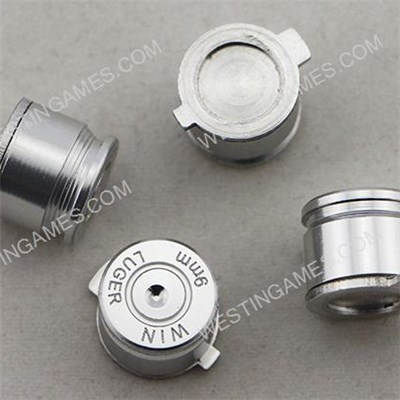 9mm ABXY Bullet Shell Button Mod Kit For PS4 PS3 PS2 Controller Joystick - Silver