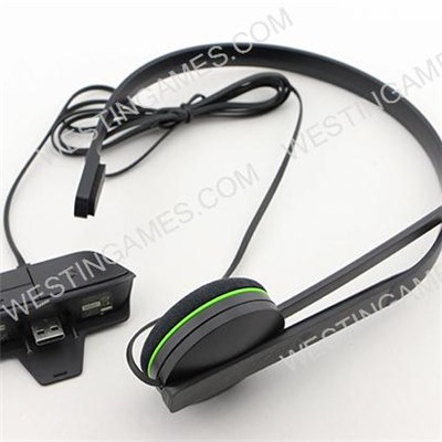 Original Wired Chat Headset With Adapter For Xbox One - Black