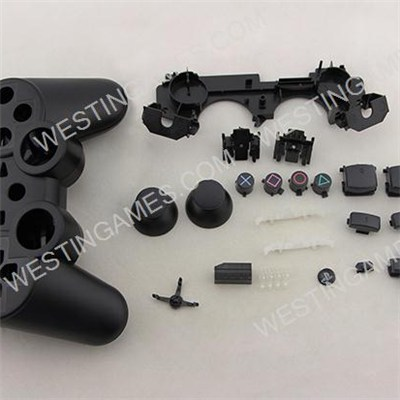 Full Wireless Controller Housing Cover Case To Replacement Original PS3 Controller - Black