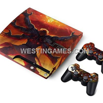 Crystal Epoxy Skin Sticker Colourful For PS3 Slim Console + 2 Controller Skin - 188 Themes