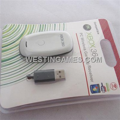 PC Wireless Gaming Receiver For Xbox360 Wireless Controller - White/Black