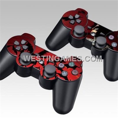 Epoxy Skin Sticker Colourful Dual Pack For PS3 Gamepad Controller - 35 Themes