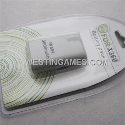 3600Mah Battery White For Xbox360 Wireless Controller