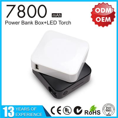 High Quality Portable Mobile USB Power Bank 7800mAh YLPB-112
