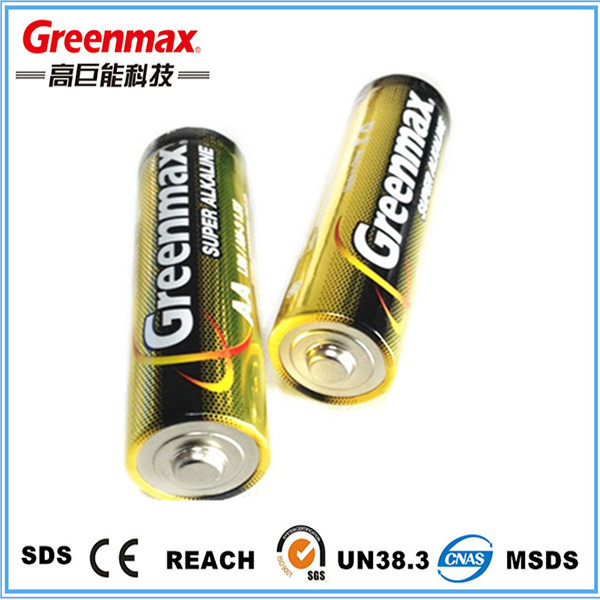 1.5V Zn/MnO2 aa lr6 am3 alkaline battery