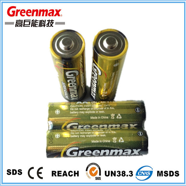 Foil jacket super alkaline aa lr6 am3 battery