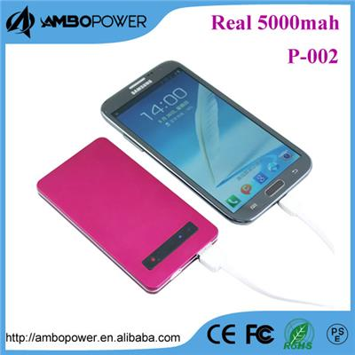 Beauty Good Quality Li-Polymer Enexpensive Universal 5000mah Power Bank