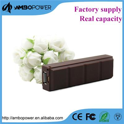 Most Popular Chotolate Type Power Bank 2600mah