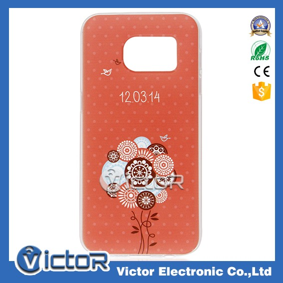 Ultra thin flower printing tpu case