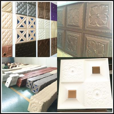 Eco Friendly Wall Decoration Faux Leather Panels