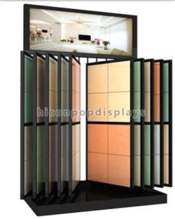 Black wall mount decoration floor tiles display stand