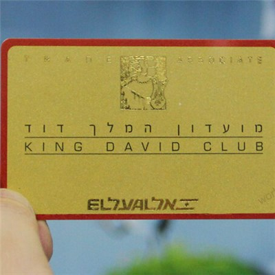 Full Color Printing RFID Plastic Card with Hot Gold Foil