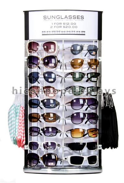 Countertop merchandising metal sunglass display units