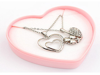 Custom Heart Shape Necklace Jewelry Gift Box