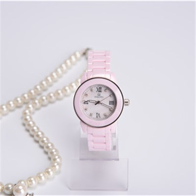 Unisex Ceramic Watch With MOP Dial