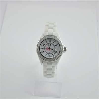 Japanese Movement Ladies Ceramic Watch