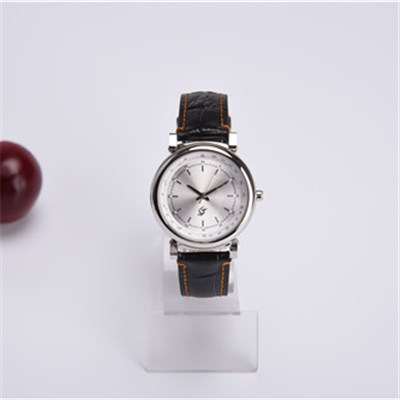 Classical Leather Band Stainless Steel Watch