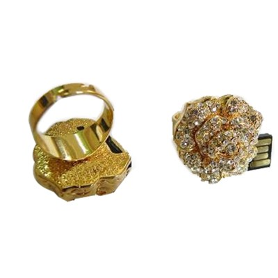 Gold Ring Jewelry USB Disk