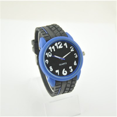 Sport Plastic Watch With Oil Painted Metal Case