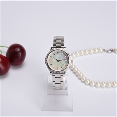 CNC Crystal Japan Quartz Stainless Steel Watch