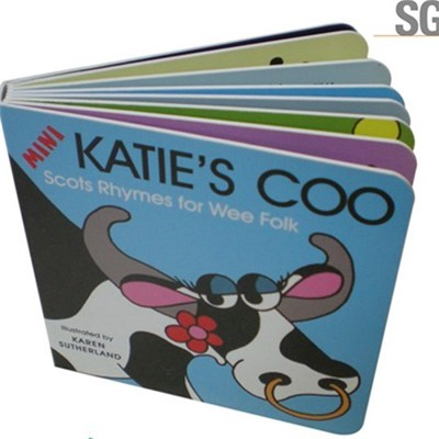 Full Color Printing Cardboard Children's Hardcover Book