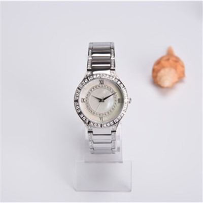 Elegent Lady's Brass Watch With Pearl Watch Face