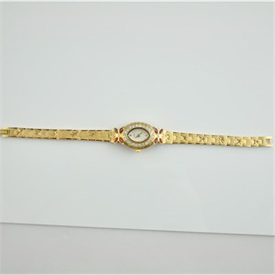 Diamond Cutting Lady's Brass Watch