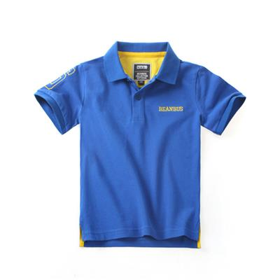New 100% Cotton Kids Short Sleeve Embroidery Polo-shirt