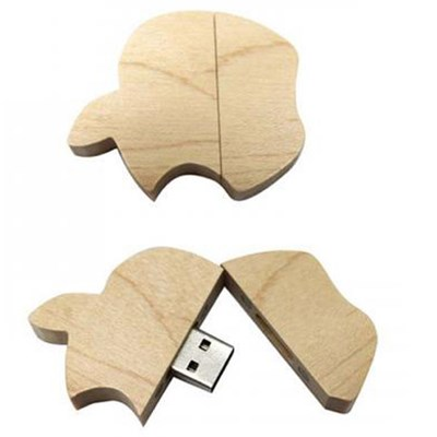 Apple Shape Wooden USB Disk