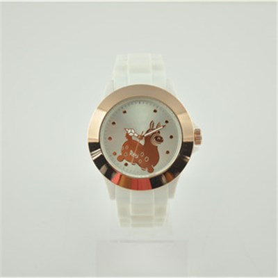 Simple Designed Dail Customize Silicone Watch