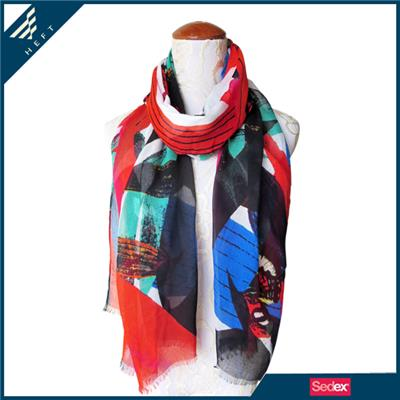The Colorful Plant Design Scarf