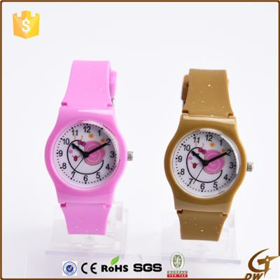 Pvc Plastic Wrist Watch For Girls