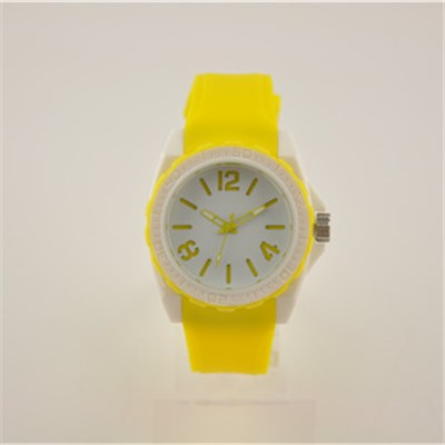 Bright Wristband Quartz Silicone Watch