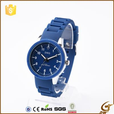 Silicone Band Wrist Watch With Pc 21 Movement