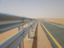 highway guardrail hot dip galvanized W profile 310x4320x82