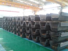 sheet pile Z profile cold formed 700x500