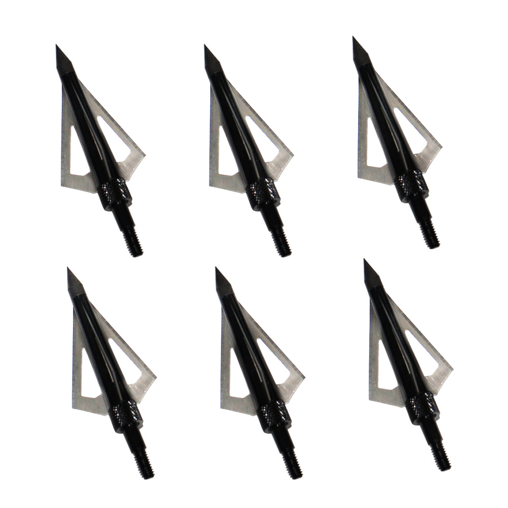 Black Arrowhead 125Grain Fixed 3 Blade Broadhead for Recurve/Compound Bow Hunting
