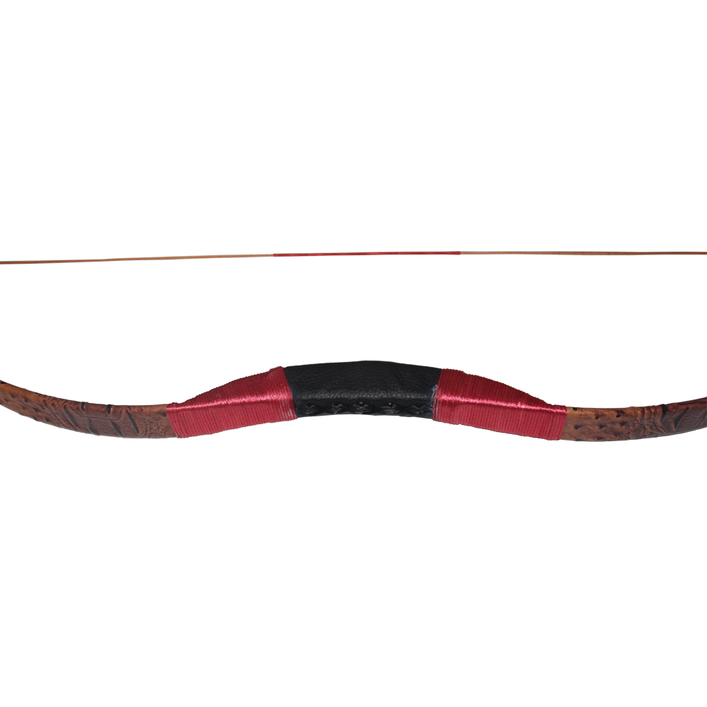 Handmade Recurve Bow Archery Hunting Longbow Brown Leather Bow Women or Youth Hunting Practice