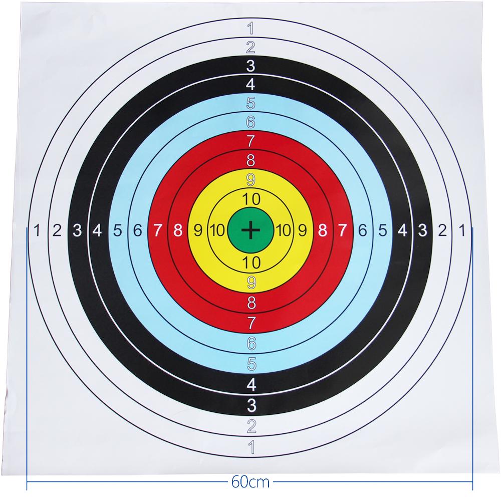 Target Paper 60 60cm Shooting Bullseye Archery Target